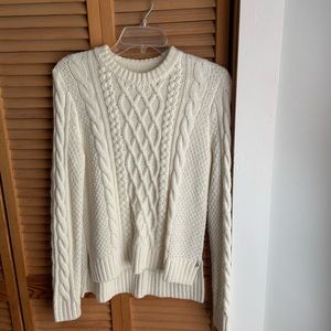 Abercrombie cream patterned sweater